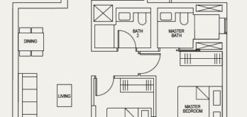 the-avenir-floor-plan-2-bedroom-2a-singapore