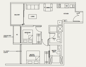the-avenir-floor-plan-2-bedroom-2b-singapore