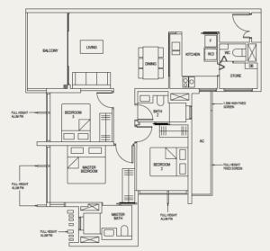 the-avenir-floor-plan-3-bedroom-3a-singapore