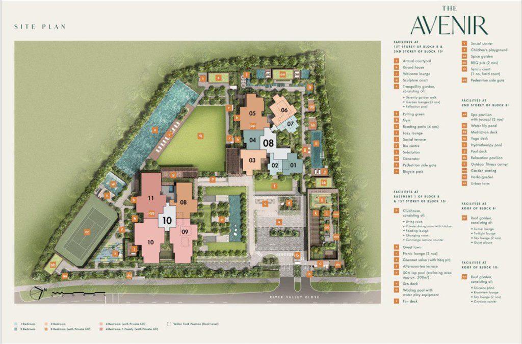 the-avenir-site-plan-singapore
